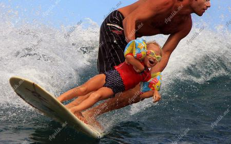 Скейт для детей начинается с папы